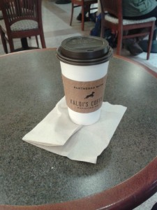 Best coffee on campus at Ellis Library