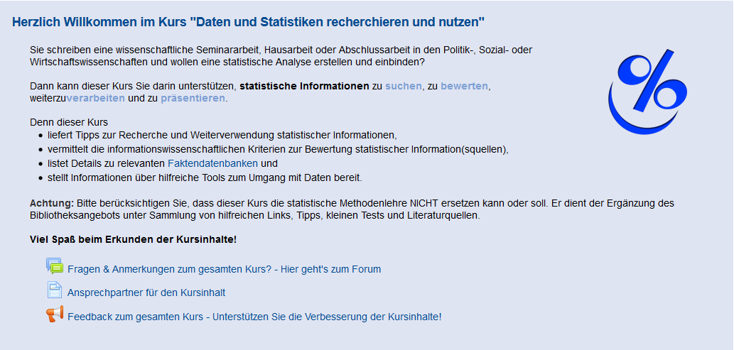 Screenshot Statistikkurs