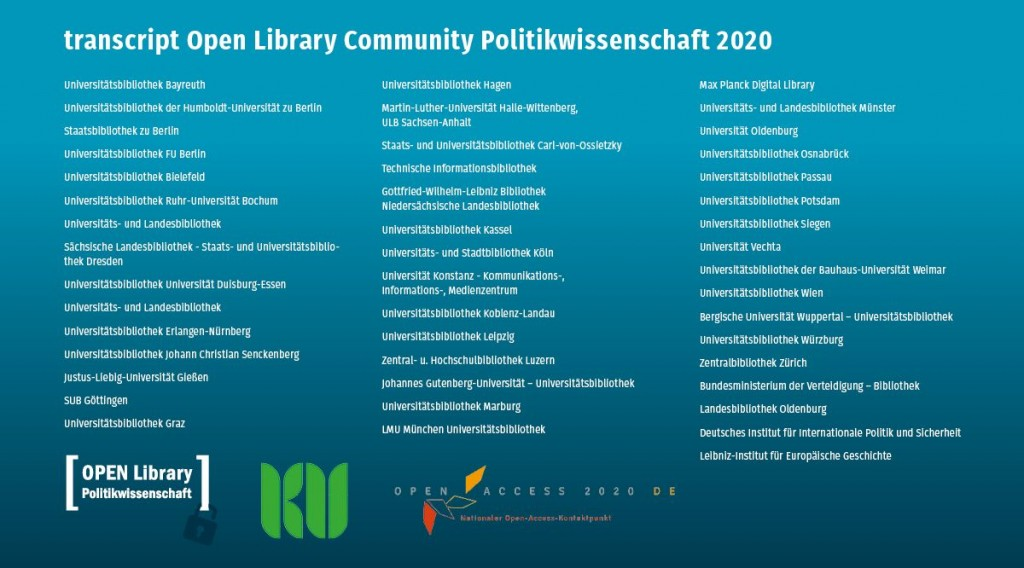 transcript Open Library Community Politikwissenschaft 2020
